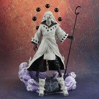 Anime Naruto 3 Heads Uchiha Madara Action Figure Rikudo Sennin PVC Model Toy Statue Birthday Gift Decoration Collections 1125g