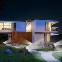 Четыре в одном 10 вт высокий яркий светодиодный светильник для газона водонепроницаемый вставной напольный светильник наружное освещение