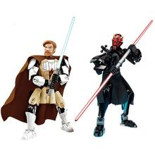 Action Figure STAR WARS Luke Leia Darth Vader Maul Sith Malgus Han Solo Jawas Ewok Yoda Rey Building Blocks Toys For children 1pc star wars princess leia count dooku with red lightsaber building blocks the force awakens darth vader amidala kids diy toys