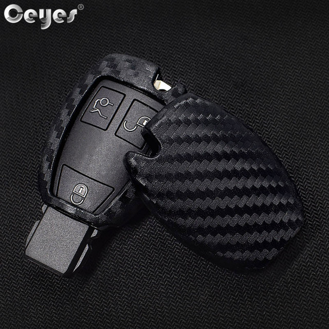 Ceyes Car Styling Auto Carbon Fiber Shell Covers Case For Mercedes Benz Cla CLS R350 C200 C180 E260L S320 GLK300 C S Accessories