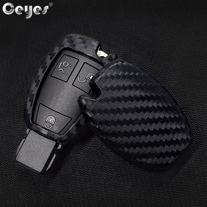 Ceyes Car-Styling Auto Carbon Fiber Shell Covers Case For Mercedes Benz Cla CLS R350 C200 C180 E260L S320 GLK300 C S Accessories image