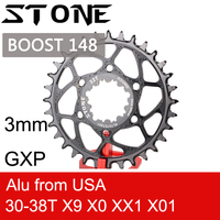 Stone Chainring Round for Boost 148 for sram GXP 3mm Offset X9 X0 XX1 X01 Tooth 30 32 34 36 38 T tooth Direct Mount Bike Chainwheel Bicycle 3 mm