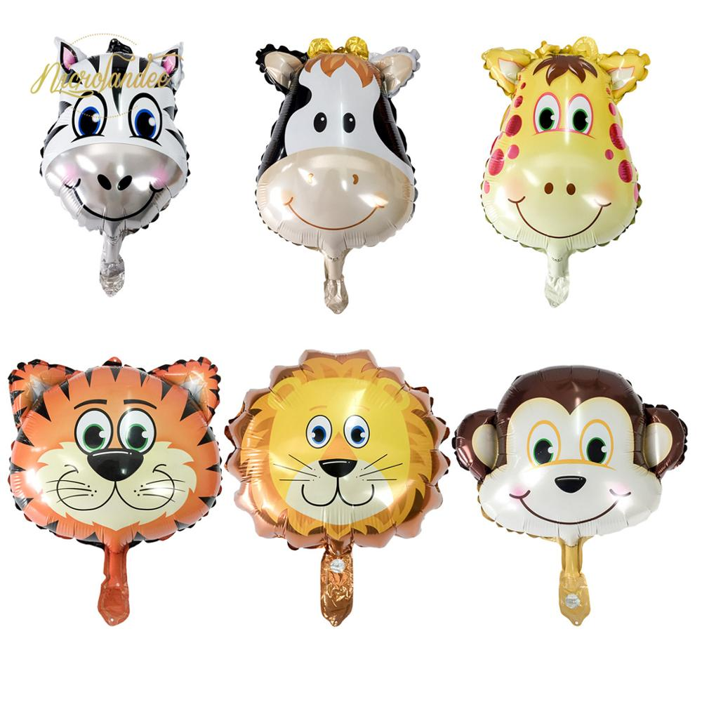 NICROLANDEE Kid Birthday Party Animal Air Balloons Cute 1st Birthday Baby Shower Jungle Safari Favor Supplies <font><b>91</b></font> image