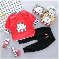 2019 Autumn Baby Boy Girl Clothing Sets Toddler Infant Clothes Suits Cartoon Coat T Shirt Pants Children Kids Costume Tracksuits
