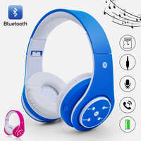 Wireless earphones for Children 85 DB up to 6-8 hours PLAY over-ear and build-in microphone Bluetooth headset 3.5 mm audio cable