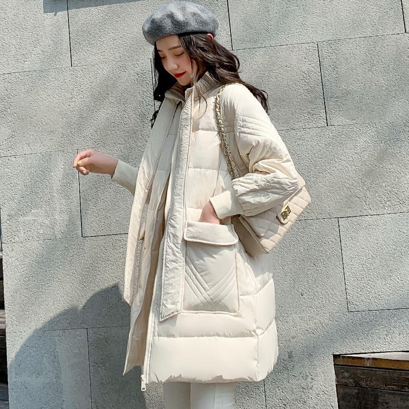Jacket Women Korean White Duck Down Coat Winter Down Jacket Women Jacket Kawaii Puffer Jacket Veste Femme 190425 YY1293