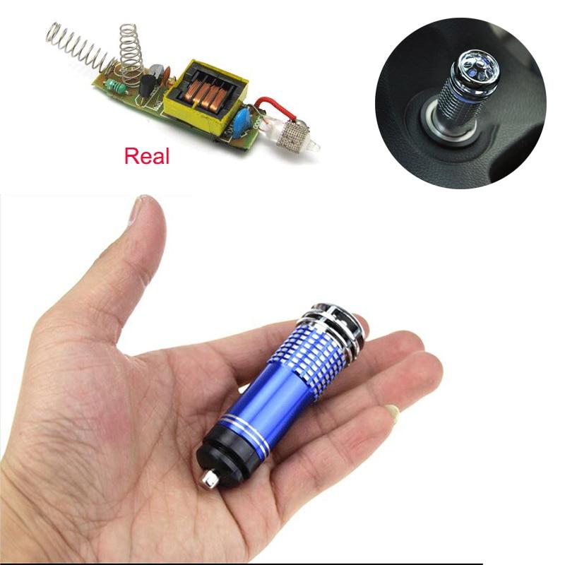 Mini Real Car Air Purifiers Vehicle Air Humidifier Ozone Ionizer Diffuser Car Fresh Air Anion Ionic Purifier Oxygen Bar Cleaner
