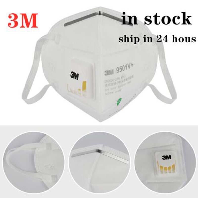 IN STOCK Original 3M 9501V KN95 Dustproof Anti-fog And Breathable Face Masks PM2.5 9501V N95 Mask Filtration DHL Shipping 5 DAYS