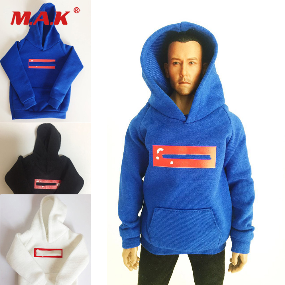 1//6 Scale Clothes Black Sports Hoodies for 12 inch Male Doll /& Action Figure