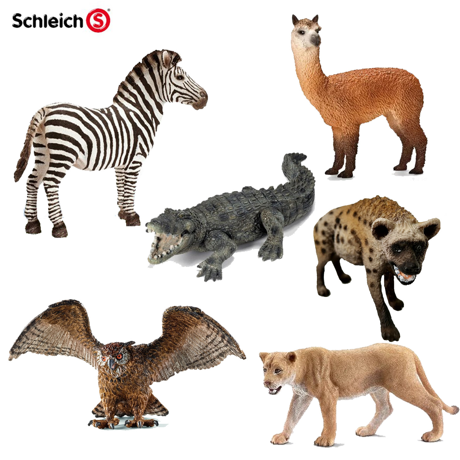 Genuine Product Germany Schleich S Schleich Animal Model Toy Model Wild Animal Multi--Selectable