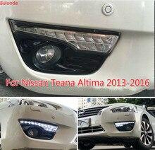 цена на 1 Pair DRL For Nissan Teana Altima 2013 2014 2015 2016 Daytime Running Lights fog lamp cover headlight 12V Daylight