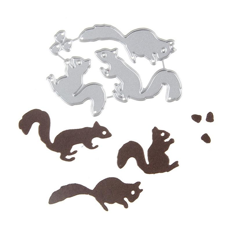 Squirrels Metal Steel Cutting Dies Cuts For DIY Scrapbooking Paper/photo Card Embossing Dies