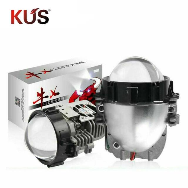 40W 2.5 นิ้ว BI LED โปรเจคเตอร์เลนส์ Retrofit LED Headllamp สูงต่ำ Beam HID Xenon เลนส์รถอุปกรณ์เสริม