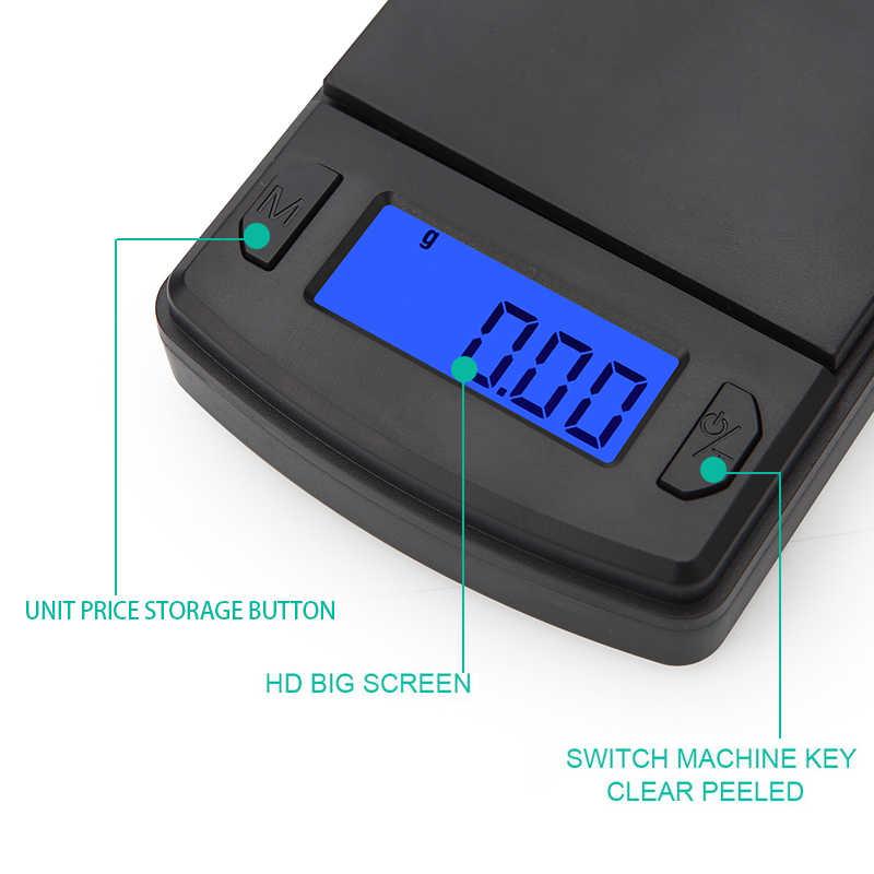 Новый 100 г/200 г/500 г x 0,01 г Мини Карманные электронные весы для Ювелирные изделия из золота, стерлингового серебра весы Баланс грамм электронные весы