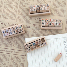 Stamp-Planner Making-Supplies Mini JIANWU Diary-Card DIY 12pcs/Set Lovely