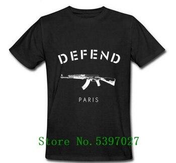 Defend paris AK47 Trendy Short-Sleeved T-shirt black M fashion tshirt for men clothing cotton cool men's t shirt 2020 hip hop