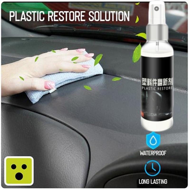 2Pcs Car Plastic Parts Retreading Agent Plastic Parts Retreading Agent Wax Instrument Panel Wax Reducing Agent Car Cleaner TSLM1