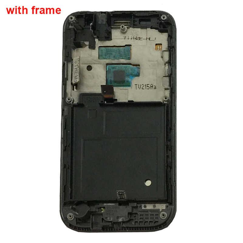 أسود لسامسونج غالاكسي SL GT-i9003 I9003 LCD محول الأرقام بشاشة تعمل بلمس شاشة الكريستال السائل لوحة رصد الجمعية مع استبدال الإطار