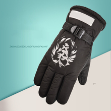 Men Mitten Adjustable Full Finger ski gloves Windproof waterproof Snowmobile snowboard Winter Warm Gloves Warm Cycling Ski