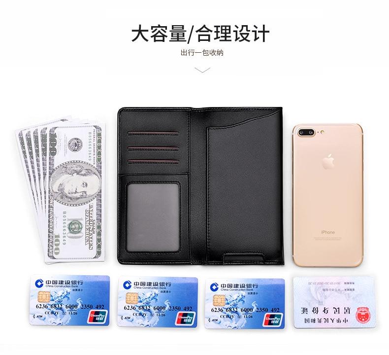 WilliamPolo Luxury Brand full grain Leather Wallets men Long Phone Bag Ultra-thin Coin Purses Tassel Design Wallets Money Bag