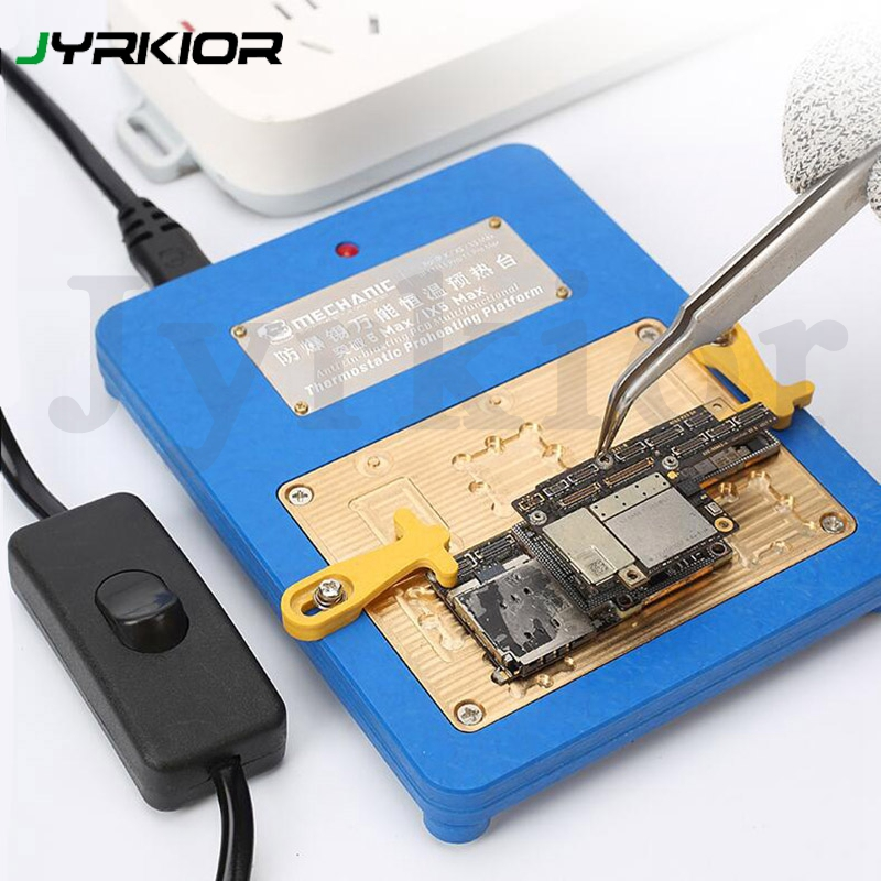 Mechanic IX5 Max Mini Thermostat Remove Welding Platform Desoldering Heater For IPhone X / Xs /Xs Max/11/11 Pro/ Pro Max