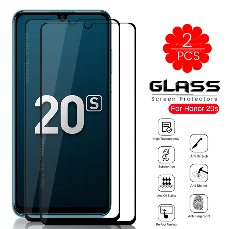 2PCS Protective Glass For Honor 20s Honer 20 S MAR-LX1H MAR-LX1 6.15'' Phone Screen Protector Glass On Honor20s Tempered Film 9H