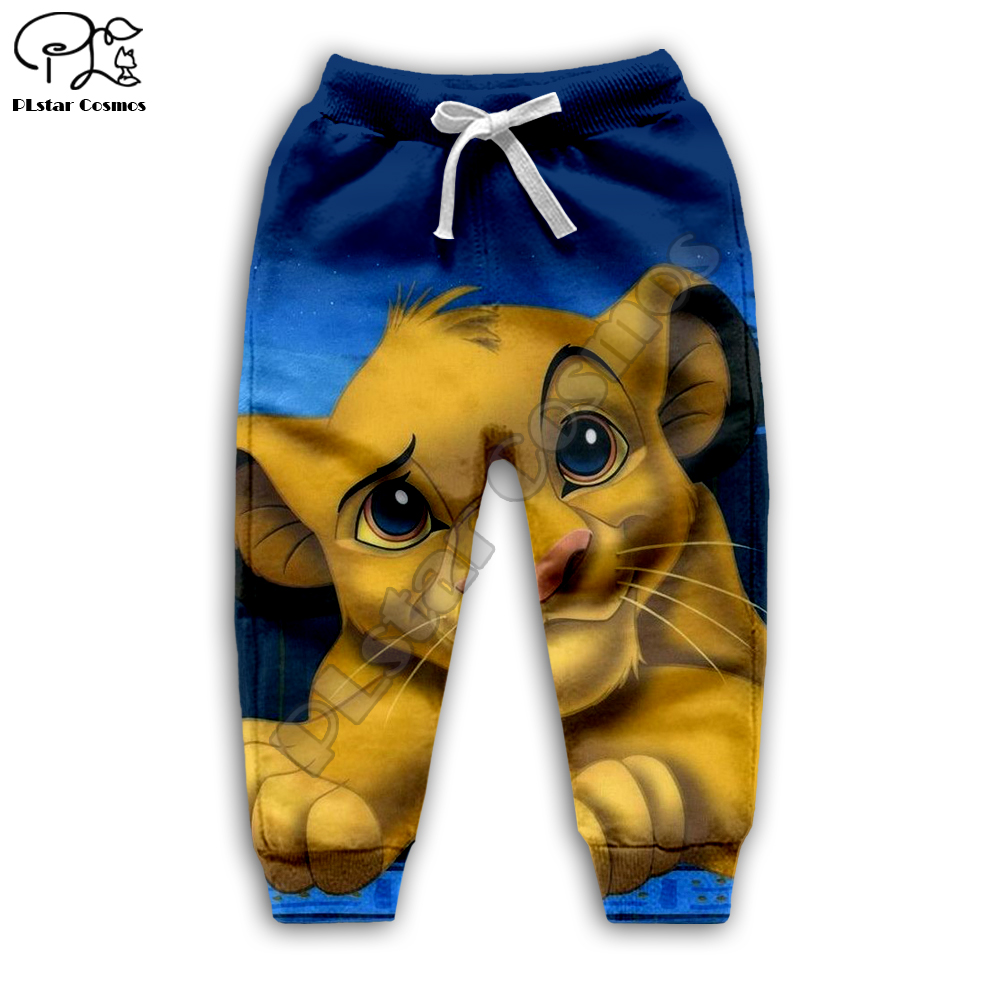 Galaxy Simba The Lion King cartoon hoodie Kids baby 3D print zipper Sweatshirts boy girl Long sleeve Top Pants for Dropshipping in Matching Family Outfits from Mother Kids