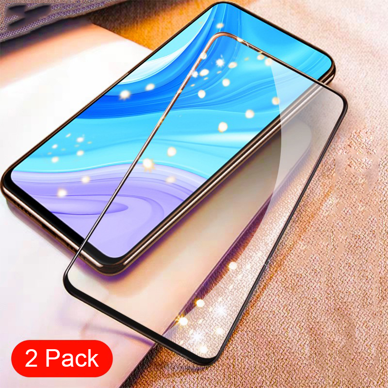 For Huawei Y9s Tempered Glass Full Cover Screen Protector For HUAWEI Y9s Global 2019 Armor Glass Film (2 Pack)
