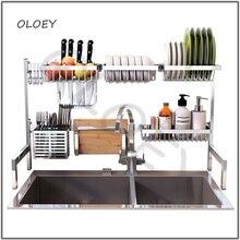 304 кухонная полка для сушки из нержавеющей стали стойка для хранения стока подставка для кухни Столовые приборы дренажный шкаф-органайзер для кухни