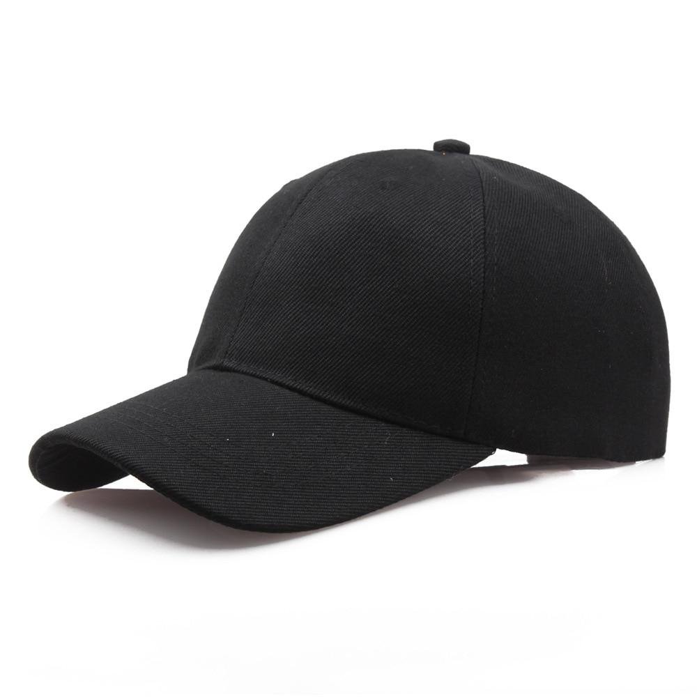 Black Cap Solid Color Baseball Cap Snapback Caps Casquette Hats Fitted Casual Gorras Hip Hop Dad Hats For Men Women Unisex