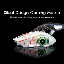 2.4GHz Wireless Gaming Mouse Silent Ergonomic Rechargeable Optical Mice 6 Keys 2400 DPI Mouse LED RGB For Computer ps4 Pro Gamer