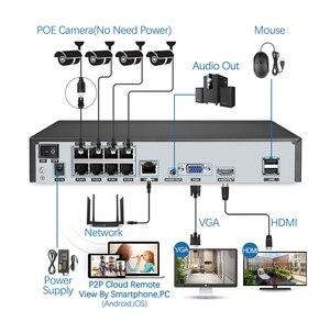 Image 3 - Techage 8CH 5MP POE NVR الأمن نظام الكاميرا اتجاهين الصوت سجل كاميرا IP داخلي في الهواء الطلق طقم مراقبة الفيديو الدوائر التلفزيونية المغلقة
