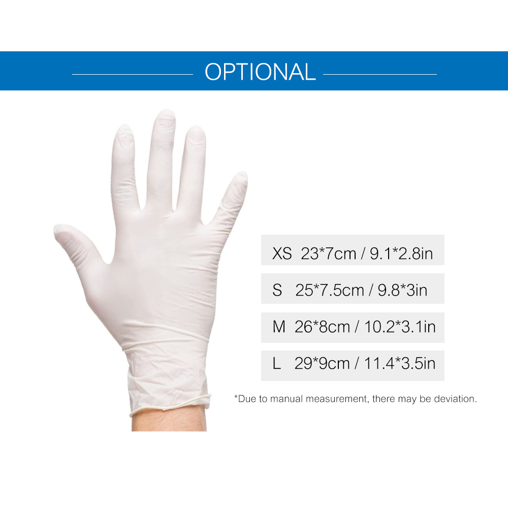 Image 2 - 100PCS/Box Disposable PVC Gloves Powder Free Gloves for Home Restaurant Kitchen Catering Food Process Examination UseSafety Gloves   -
