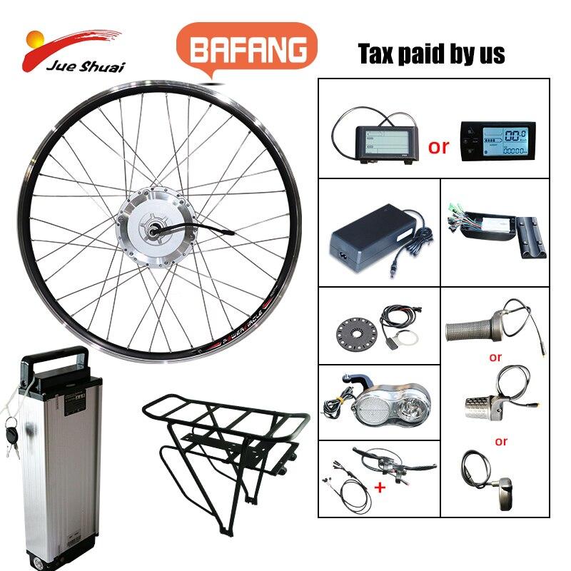 Bafang 48V 500W Electric Bike Gear Brushless Hub Motor Front Wheel Drive eBike Conversion Kit Battery Built Electric Bike E Bike