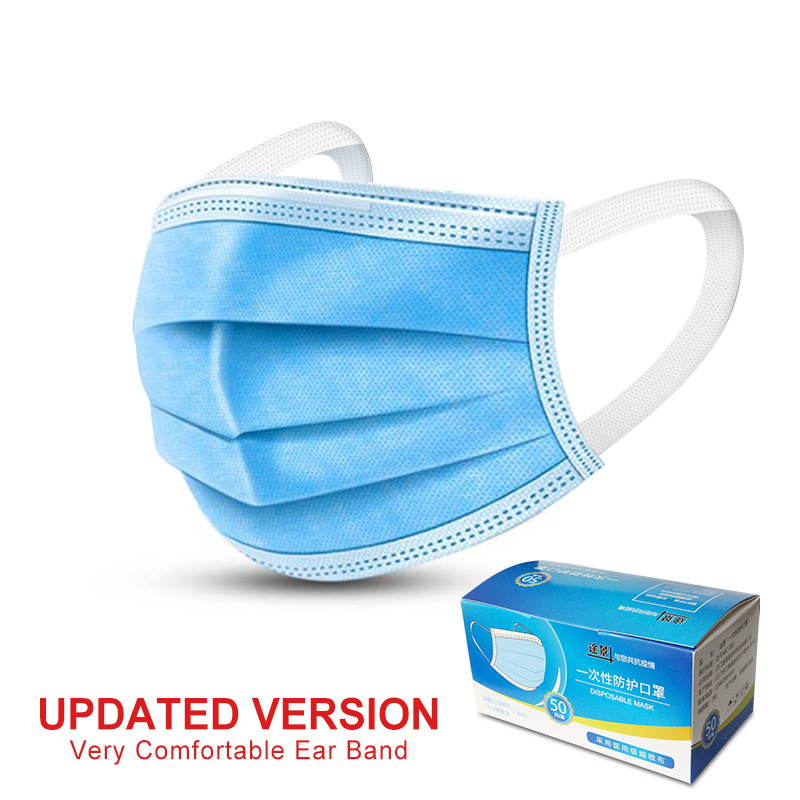 Image 3 - Fast shipping KN95 Non Woven Disposable Face Mask 3 Layer Medical  Dental Earloop Activated Carbon Anti Dust Face Surgical Masks  -