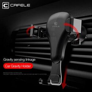 Image 5 - CAFELE Zwaartekracht reactie Auto Mobiele telefoon houder Clip type air vent monut GPS auto telefoon houder voor iPhone Samsung huawei xiaomi