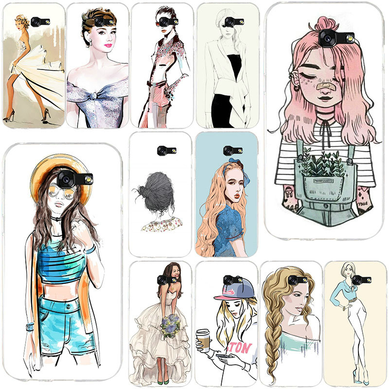 <font><b>Sexy</b></font> Lady Fashion <font><b>Girl</b></font> Travel Mobile Phone <font><b>Case</b></font> For Samsung <font><b>Galaxy</b></font> A3 A5 A7 <font><b>J5</b></font> J7 J3 2017 J1 J2 <font><b>2016</b></font> Soft TPU Back Cover Coque image