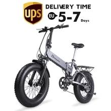 Electric Bicycle Bike Mountain-Bike Fat-Tire Folding Beach-Cruiser MX21 500W4.0 48v Mens