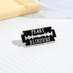 Black Lock Enamel Pin Peaky Blinders Identity Characteristics Outside Clothing Backpack Jewelry Gift For Men Women Custom Made