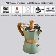 Casa de alumínio italiano moka espresso máquina café percolators fogão pote superior 150/300ml cozinha ferramentas fogão cafeteira