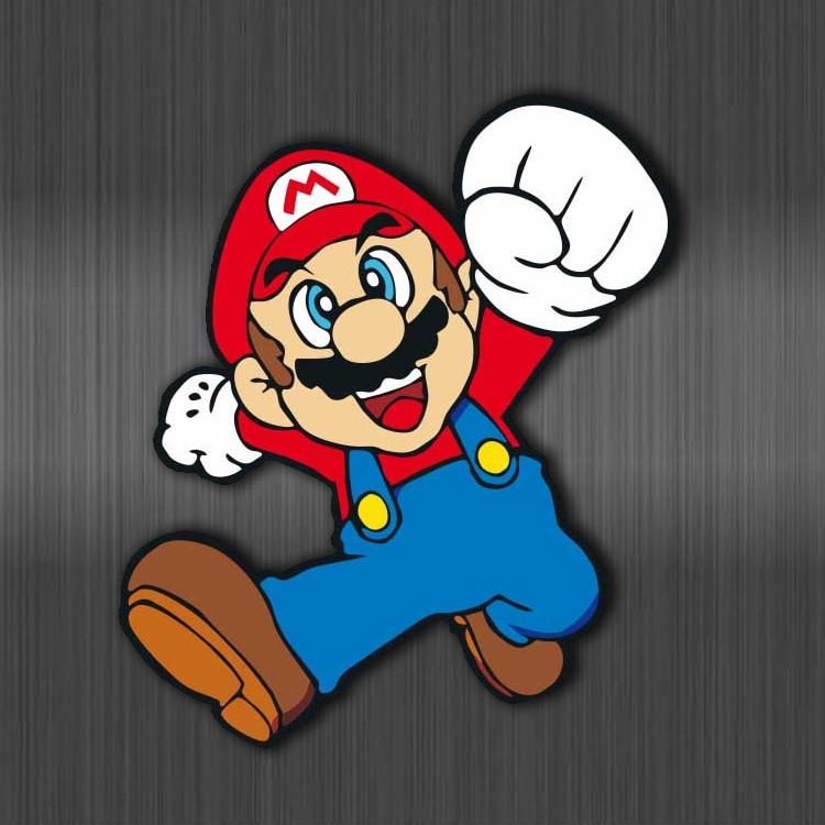 Cartoon Super Mario Stickers Waterproof For Luggage Car Guaitar Skateboard Phone Laptop Bicycle Moto Kids Sticker