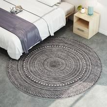 Нордический геометрический круглый ковер компьютерный коврик на стул и на пол детская комната круглый коврик karpet домашний Коврик для прихожей гардероб ковры и циновки