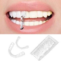 Silicone Fake Teeth Veneers Whitening Instant Cosmetic Dentistry Comfortable Veneer Cover Teeth Whitening Smile Denture