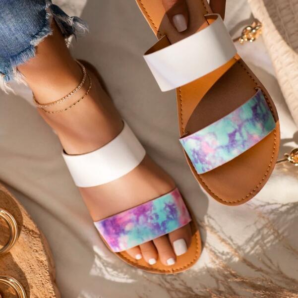 Пляжные сандалии для отдыха на открытом воздухе, Новинка весна/осень 2020, двухслойные кожаные прочные сандалии на плоской нескользящей подо...