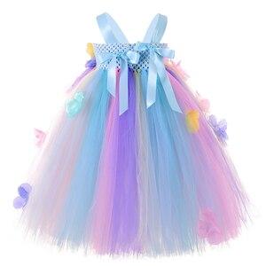 Image 3 - パステル花の妖精ガールチュチュドレスプリンセスチュールフラワーガール結婚式ページェントガウン子供の誕生日パーティードレス