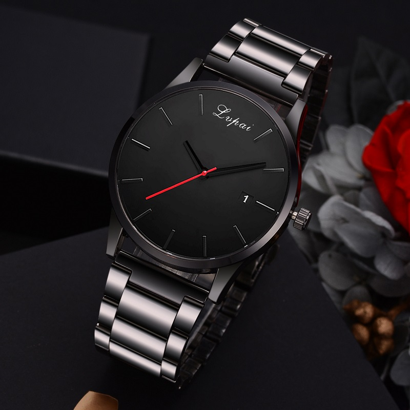 Fashion Watch Men Business Watches Luxury Men's Stainless Steel Male Quartz Wristwatch Military Relogio Masculino Reloj Hombre