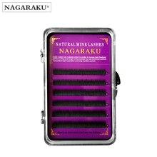 NAGARAKU Eyelash EXTENSION แต่งหน้า Maquillaje 0.10 ความหนา J Curl 5 มม.6 มม.7 มม.สีดำสีขนตาด้านล่างขนตา Cilios