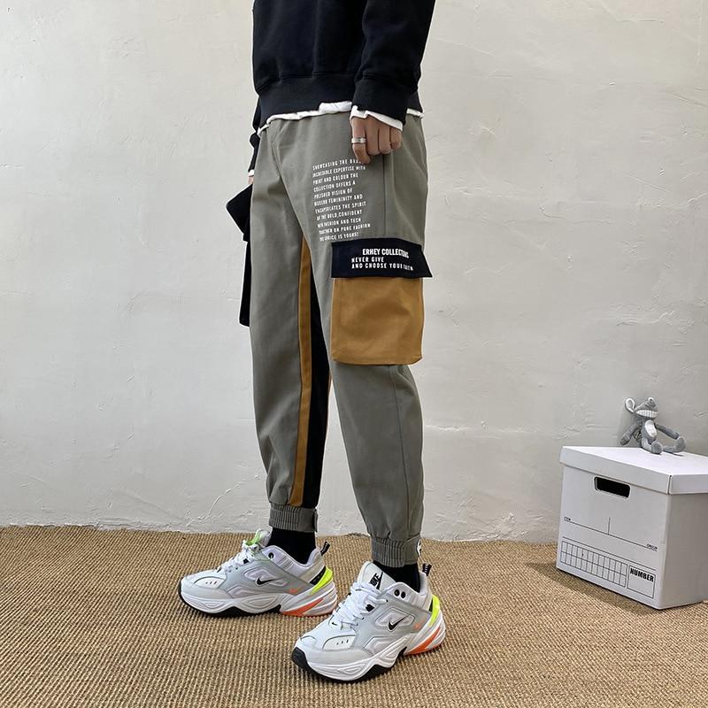 Hong Kong Style Velcro Beam Leg Bib Overall Men's Spring And Autumn Trend Loose-Fit Straight-leg Pants INS Popular Brand Versati