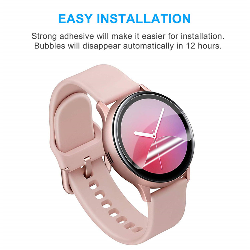 2pcs Full Protective film For Samsung Galaxy watch active 2 Screen Protector 3D Ultra-thin watch Active2 44mm 40mm Accessories