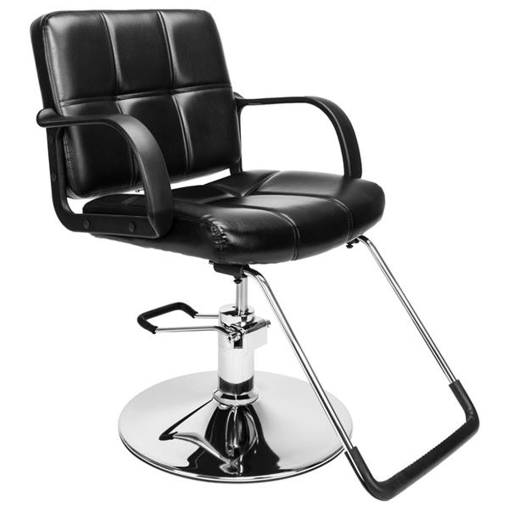 Barber Chair Salon Beauty Spa Chair Styling Equipment Black For Barbershop  Sponge Barber Chair Adjustable Height